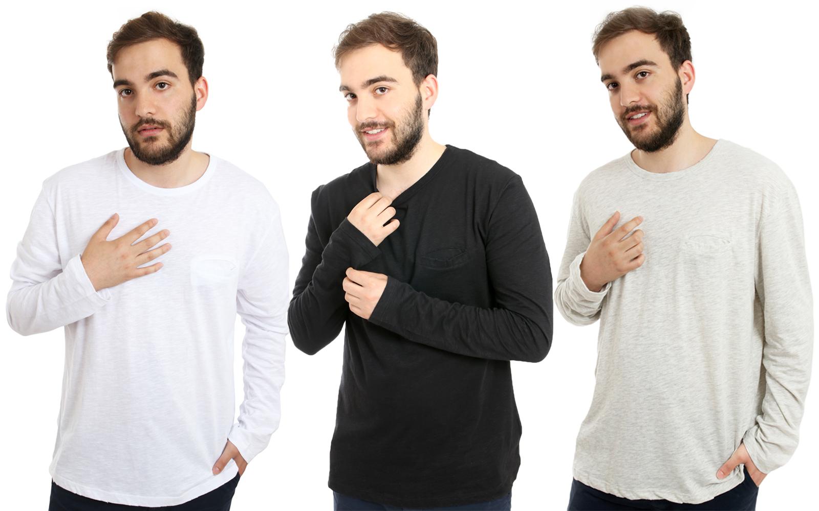 MOSS COPENHAGEN Mathias Herren Long-Sleeve-Shirt Pullover