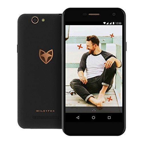 """[Amazon WHD] Wileyfox Spark - 5"""" Smartphone (Dual-SIM-Funktionalität 4G) mit 8-MP Kameras Android Nougat 7.0 (demnächst). - Schwarz ab 56,79 €"""