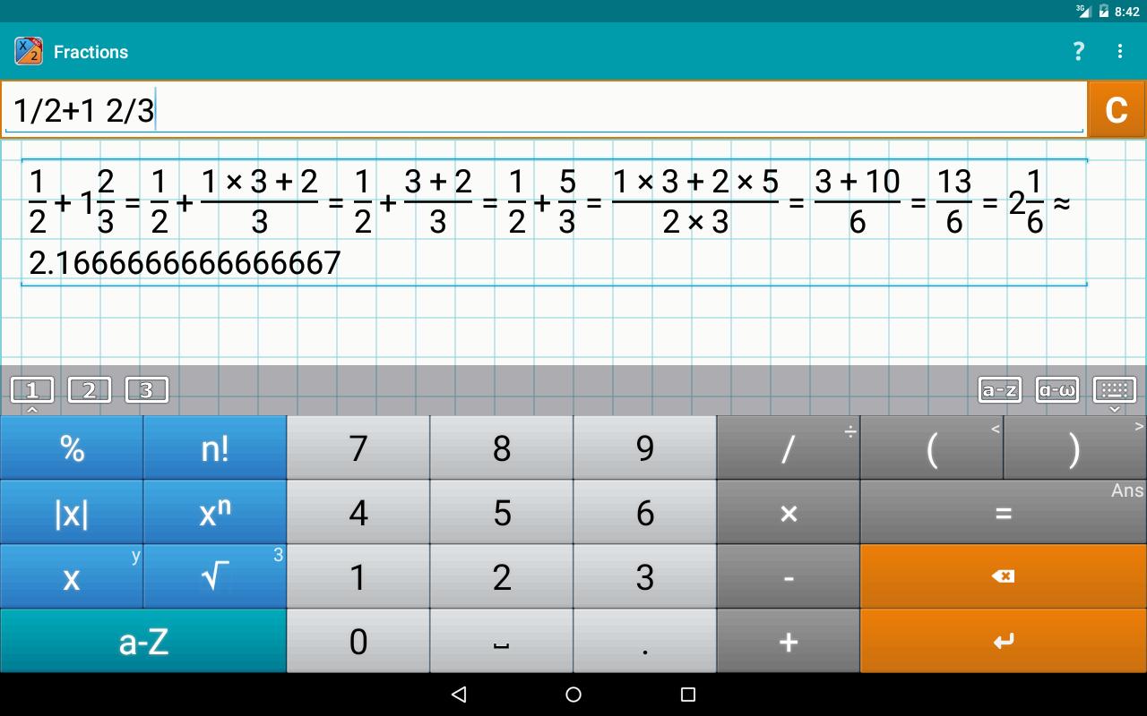 Teilwert / Fraction Rechner PRO (Android) kostenlos (statt 3,19€) [Play Store]