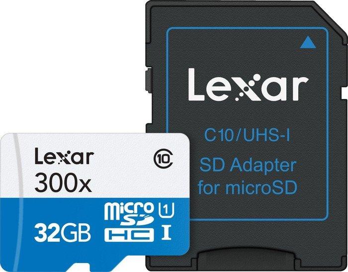 Lexar 300x microSDHC mit 32GB für 9€ [Amazon Prime only]