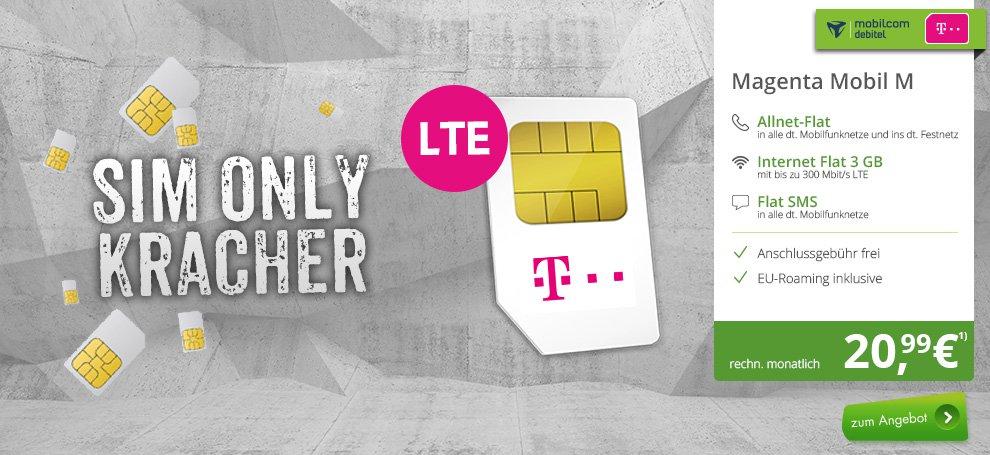 mobilcom-debitel Telekom Magenta Mobil M (Friends) 6GB und Mobil M 4GB für 20,99 € durch monatl. Rabatt & Aktionsguthaben