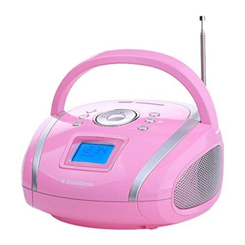 Amazon Warehouse Deals: einfaches Kinderradio AudioSonic RD-1566 Stereoradio (USB, SD, MP3, 2x 2 Watt) pink