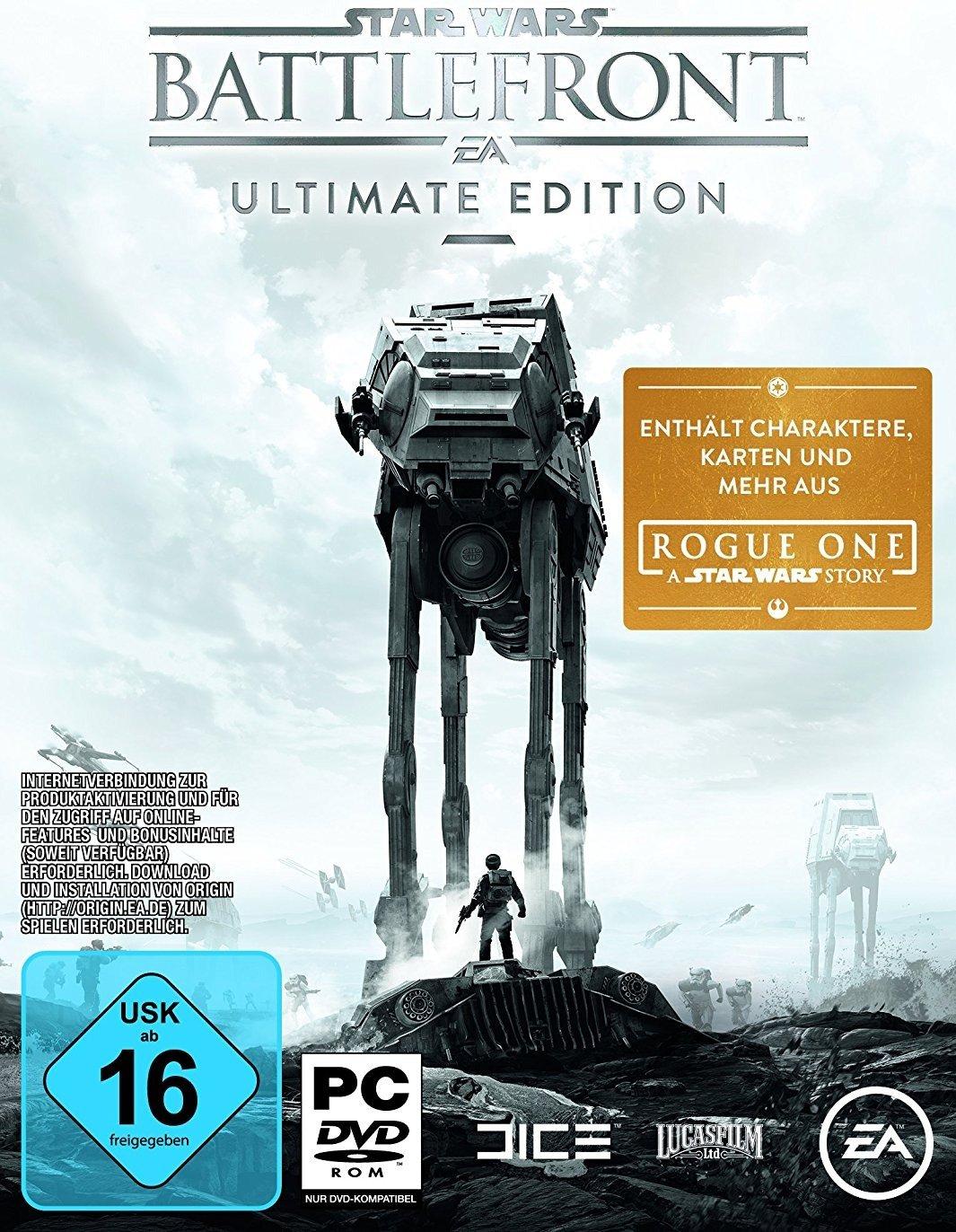 Star Wars: Battlefront - Ultimate Edition & Mirror's Edge: Catalyst & Sim City 4: Deluxe Edition für je 4,99€ (u.a. Angebote) [Origin]