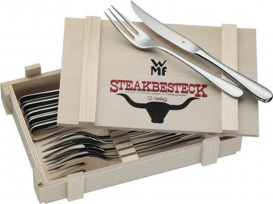 WMF™ Steakbesteck 12-teilig in Holzkiste für 24,54€ versandkostenfrei [Voelkner]