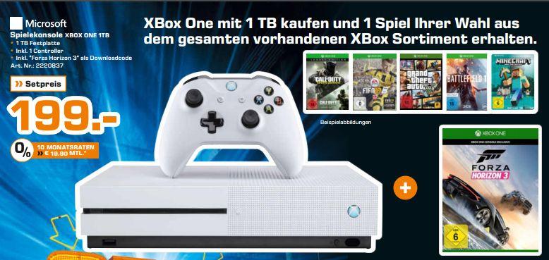 [Lokal Saturn Hamburg / Norderstedt]  XBox One S (1TB)  *Halo 2 Bundle* inc Forza Horizon 3 + 1 Spiel aus dem Gesamten Sortiment für 199,-€