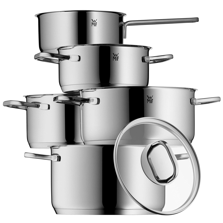 WMF 1730156380 Intension Kochgeschirr-Set, Edelstahl Rostfrei, 5-teilig für 99€ / Amazon Prime