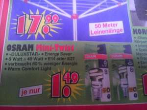 OSRAM Mini-Twist bei Jawoll (vermutlich lokal Niedersachsen) nur 1,49 EUR