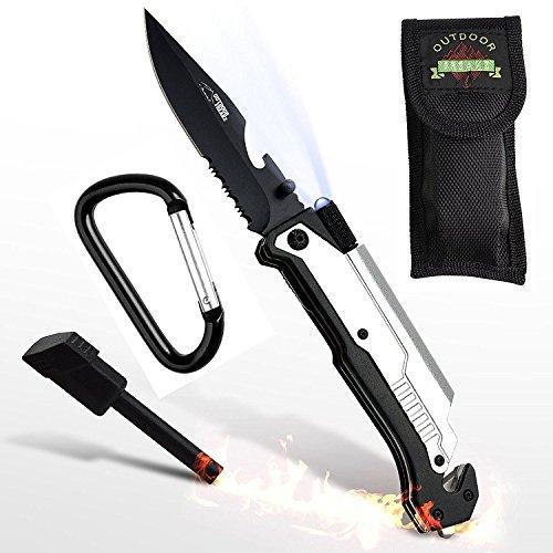 6-in-1 Survival Klappmesser mit LED und Feuerstahl für 17,99 Euro [Amazon]