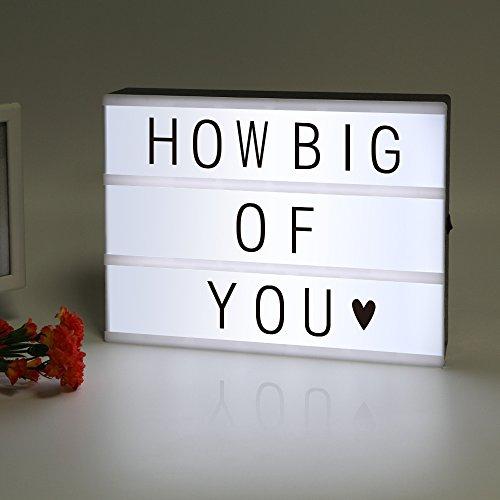 [Amazon Prime] LitEnergy ~ gestaltbar LED Kino Leichte Box ~ Leuchten Ihrem Leben ~ Filmischen Licht-Box ~ Leuchtkasten mit flexiblen Buchstaben
