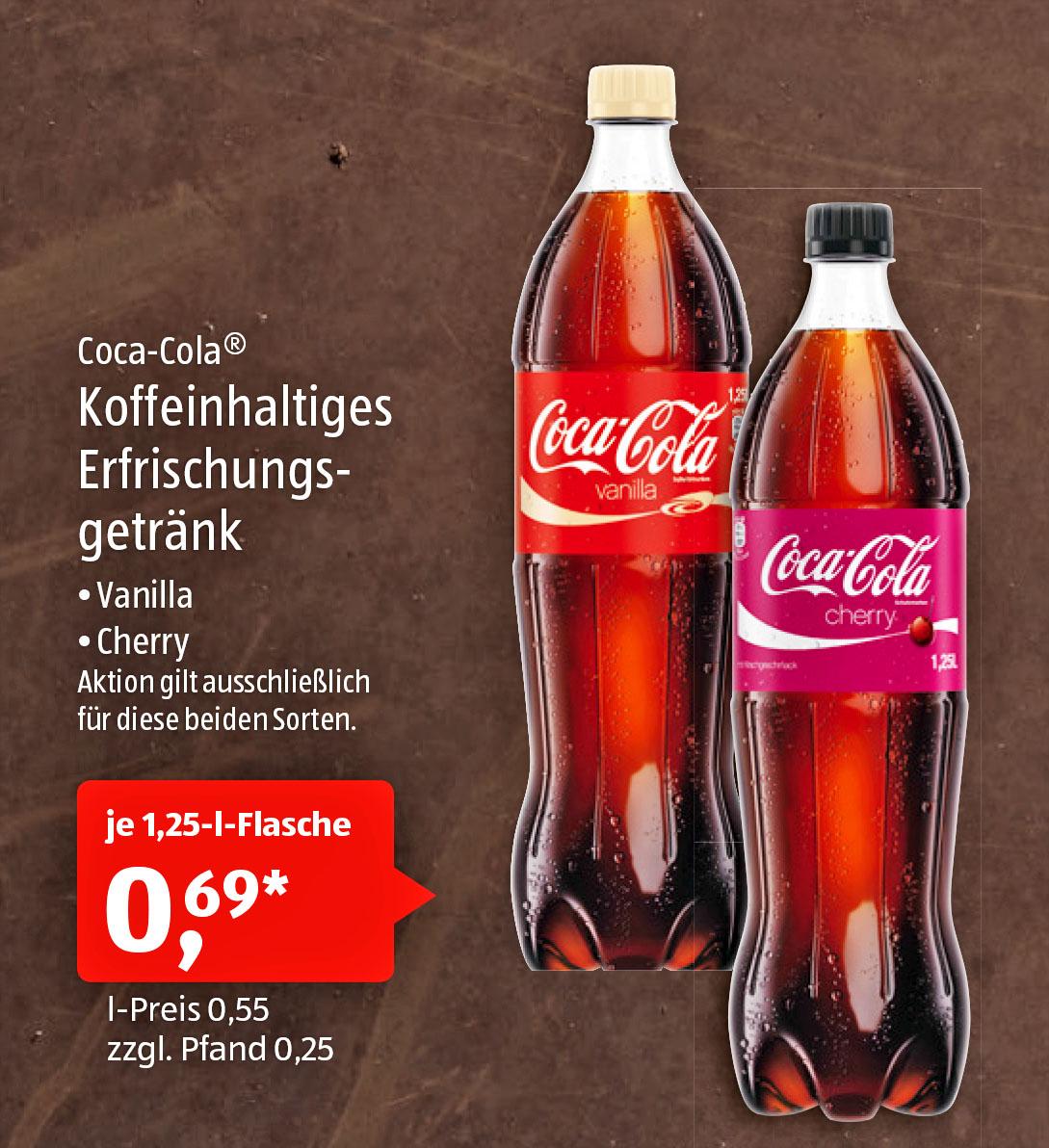 Vanilla Coke / Cherry Coke bei (Aldi Süd)