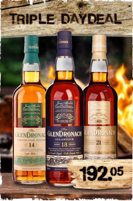 [drankdozijn.nl] 3 Flaschen Glendronach 14y/18y/21y im Paket -- ab 198 €