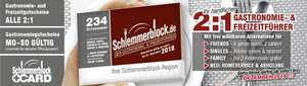 Schlemmerblock 22,95 € statt 34,95 € bis 30.09.2017 (+3,96 € Versand)