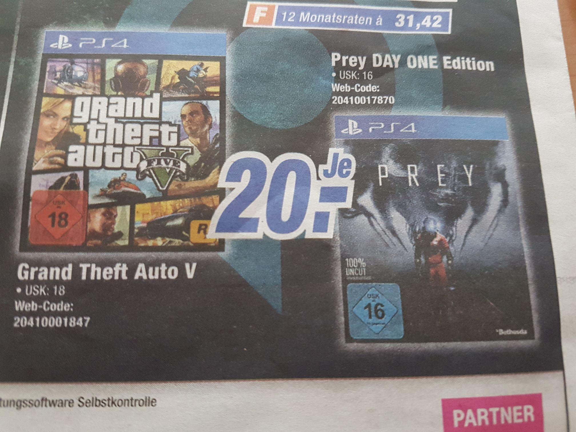 [Lokal Flensburg expert] GTA V und Prey PS4 20 EUR