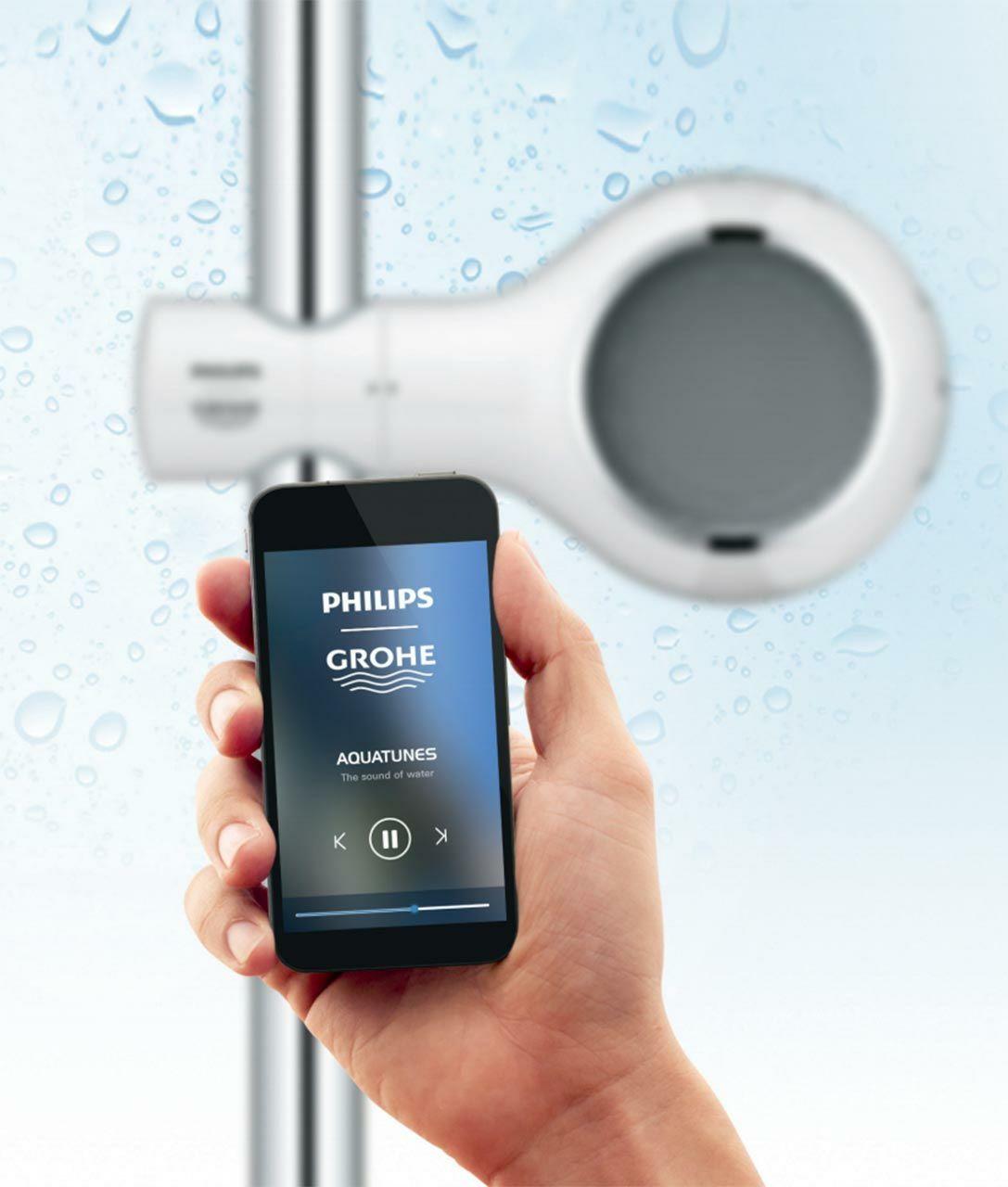HORNBACH - Grohe Aquatunes kabelloser Bluetooth Dusch-Lautsprecher (Offline verfügbar).