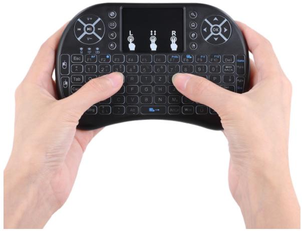 Mini Wireless Tastatur mit Touchpad (TomTop)