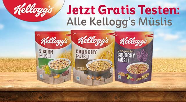 [Coupies] GzG Kellogg's® Müsli Gratis Testen bis zum 30.10.2017