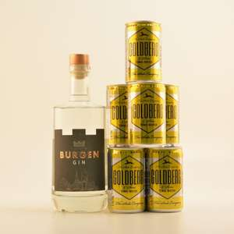 BURGEN GIN 45% 0,5L + GOLDBERG TONIC 8 X 0,15L @40,85 Euro inkl. Versand bei Rum u. co