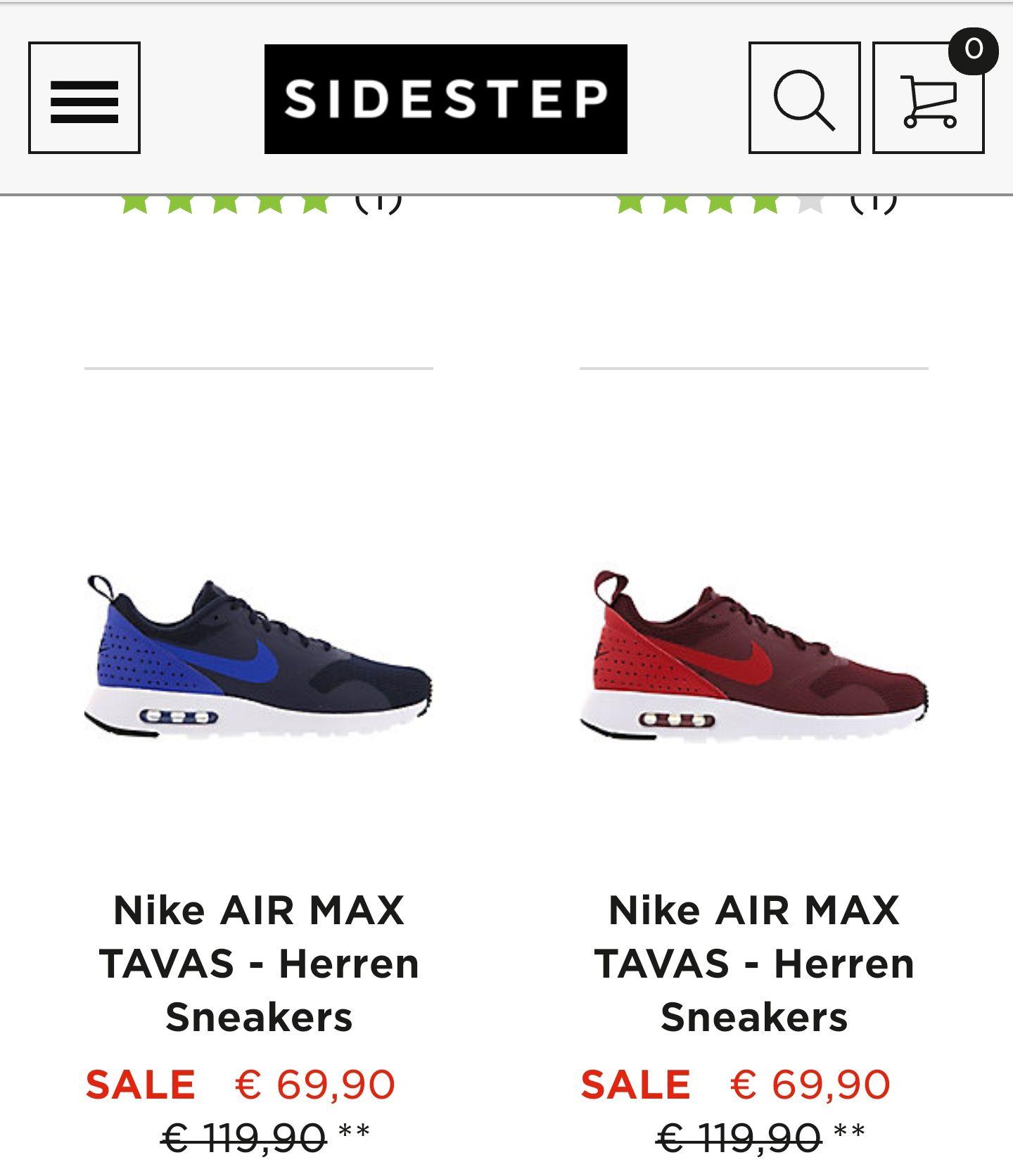 Nike Air max Tavas ab 69,99€ noch in versch. Grössen bestellbar