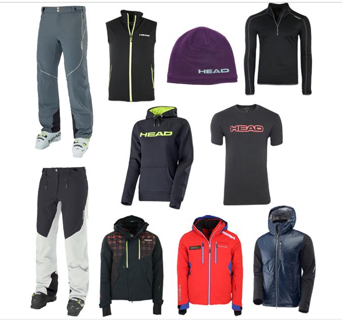 HEAD Ski- & Freizeitbekleidung für Damen & Herren im SALE ab 4,99€, z.B. mit der HEAD Daunenweste für Damen für 19,99€ statt 49,99€