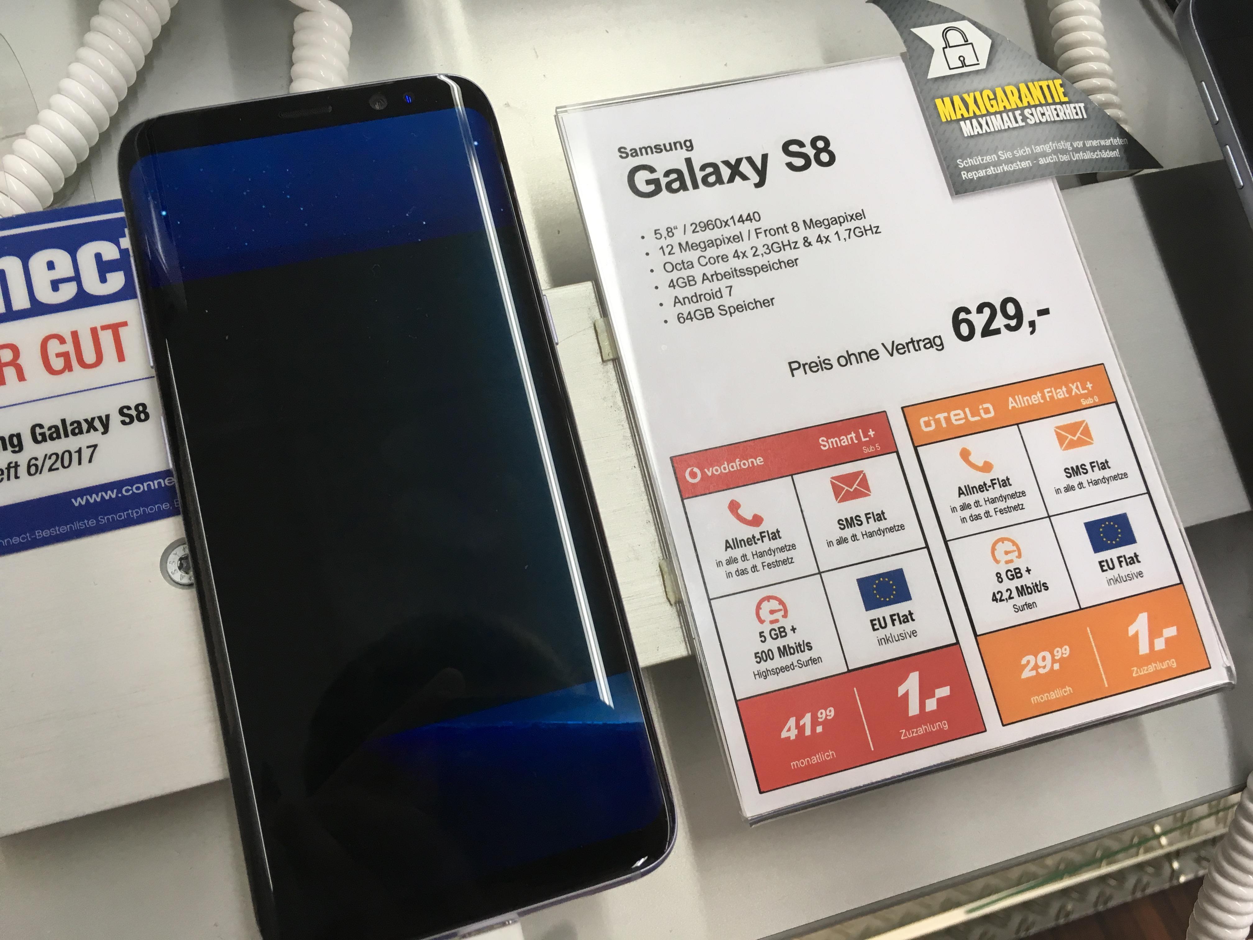 [Lokal Hildesheim] MEDIMAX // Samsung Galaxy S8 // OTELO Allnet XL+ 8GB Datenvolumen // 29,99€ mtl.