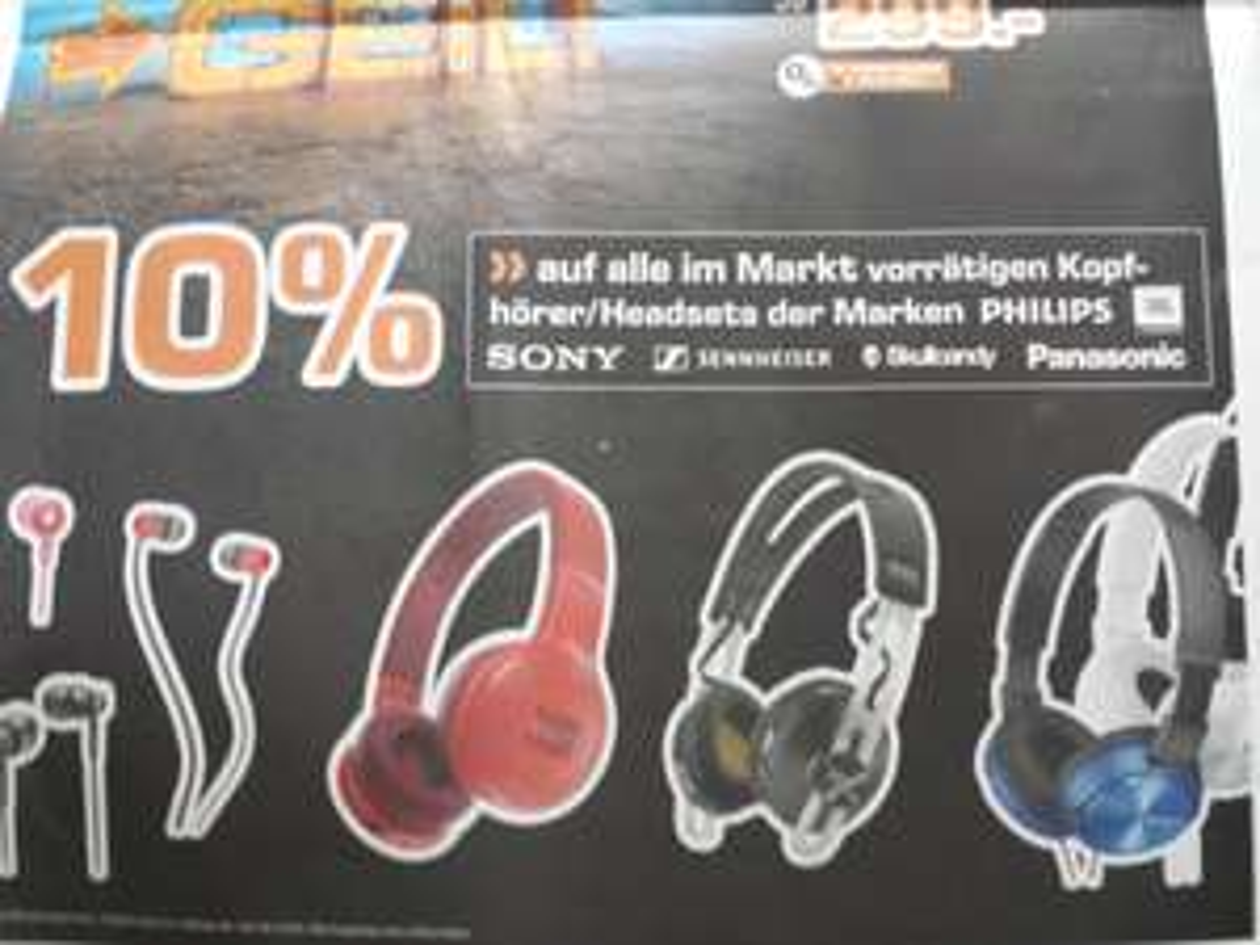 [LOKAL Saturn Karlsruhe] 10% Rabatt auf alle Kopfhörer/Headsets der Marken Philips, JBL, Sony, Sennheiser, Skullcandy & Panasonic
