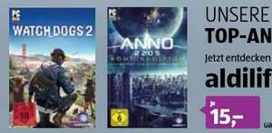 [Aldi Online ab 22.08] Watch Dogs 2 (PC) und Anno 2205 *Königsedition* (PC) für je 15,-€ (Download)