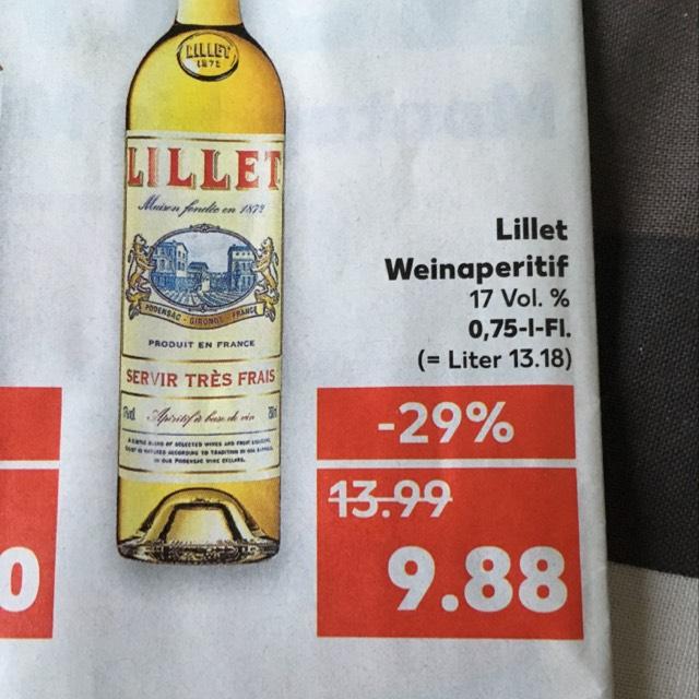 Kaufland: Lillet Blanc - Weinaperitif