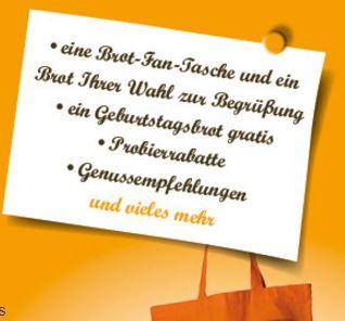 1 Kostenloses Brot und Fan-Tasche von Büsch Bäckerei / Lokal NRW