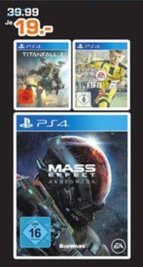 [Lokal Saturn Hagen und Iserlohn] Mass Effect Andromeda (PS4) und Fifa 17 (PS4) für je 19,-€