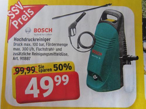 Bosch Hochdruckreiniger Aquatak 10 Max Bahr Prospekt