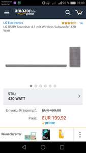 LG DSH 9, Soundbar Amazon 199€