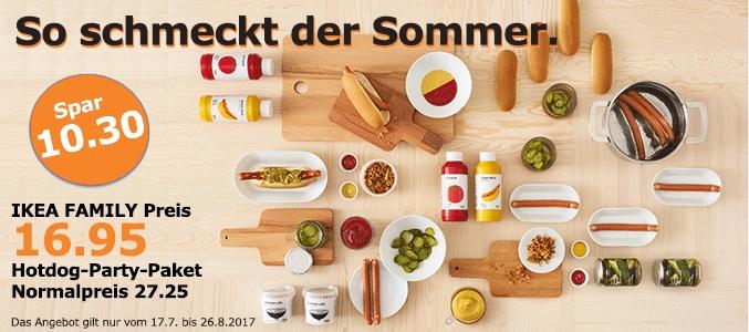 Lokal Köln: Ikea Butzweilerhof Hotdog-Party-Paket für Ikea-Family-Mitglieder für 16,95 bis 26.08.2017