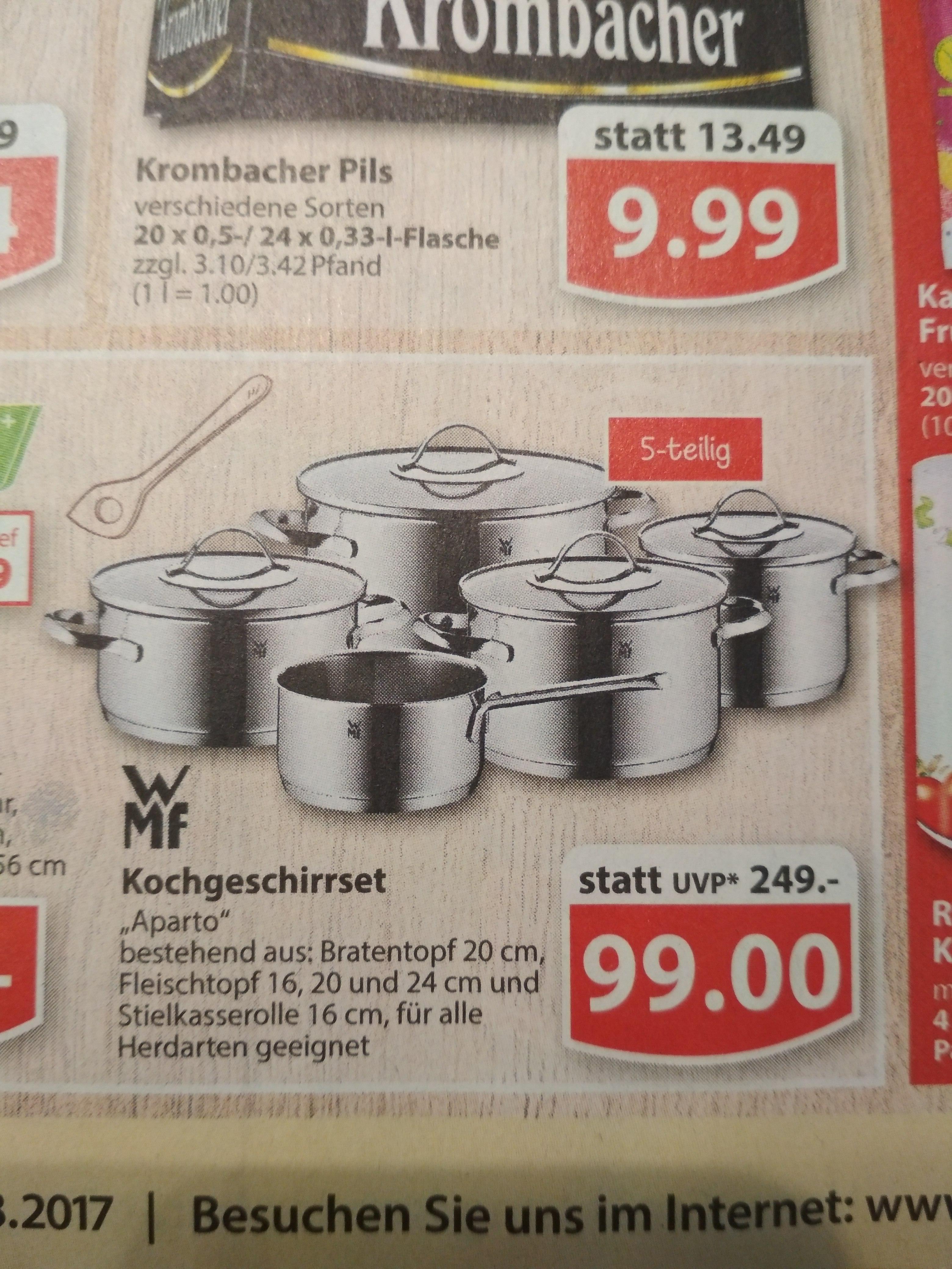 (Famila Nordwest) WMF Aparto Kochtopfset 5-teilig für 99 € statt 199€