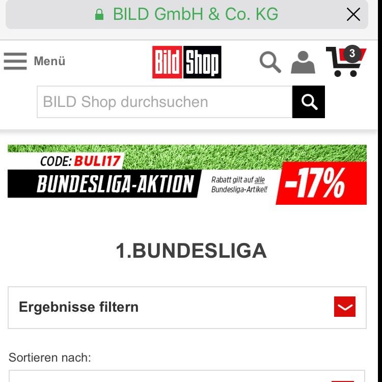 -17% auf Fußball-Artikel der neuen Saison17/18