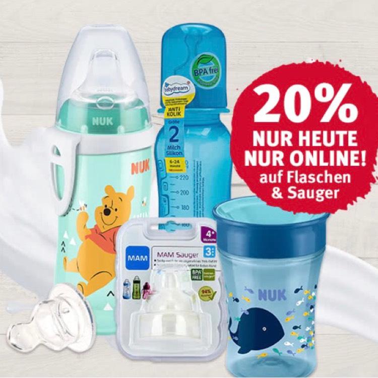 Rossmann 20% online auf Baby Flaschen und Sauger