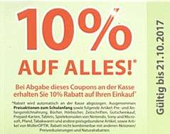 10% Coupons auf Alles für Müller Maintal in der aktuellen Sonderbeilage