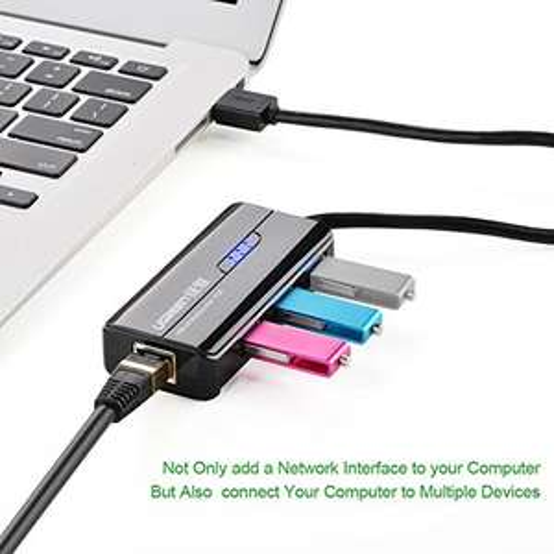 Ugreen 3 Port USB 3.0 Hub mit Gigabit-Ethernet-Anschluss