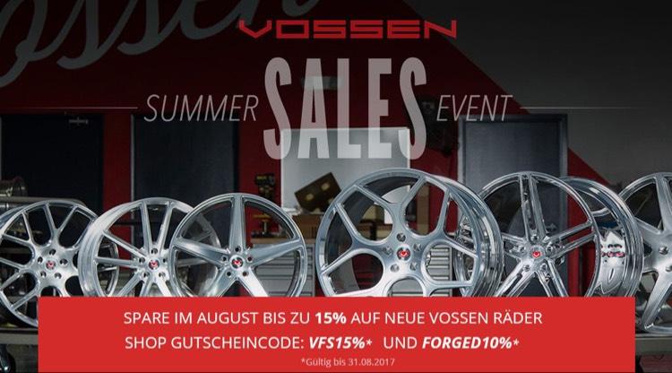 Vossen Summer Sale bis zu 15% Rabatt