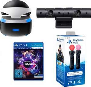 PlayStation VR Brille + VR Worlds + Kamera + Move Twin Pack für 405,94€ oder nur PlayStation VR Brille für 315,94€