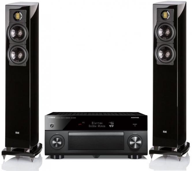 [HiFi 2.0-AVR Bundle] Yamaha RX-A3060 AV-Receiver + Elac FS 267 Standlautsprecher in schwarz