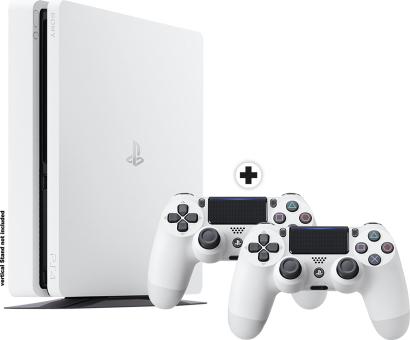 [Grenzgänger /Schweiz] PS4 Sony PS4 Slim inkl. 2. Controller - Spielkonsole - 500 GB HDD - Weiss
