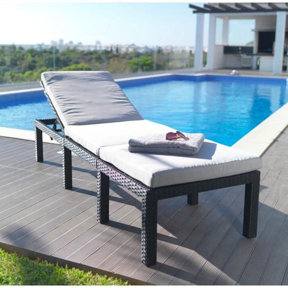 sonnenliege mit kunststoffgeflecht inklusive auflage 52 95 euro statt 99 euro gartenm bel. Black Bedroom Furniture Sets. Home Design Ideas