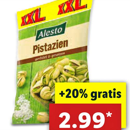 Kalifornische Pistazien in der großen 300g XXL-Tüte für nur 2,99€ bei (Lidl)