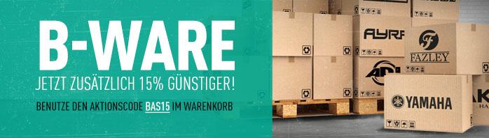 15% Rabatt auf B-Ware bei Bax-Shop.de (Instrumente)