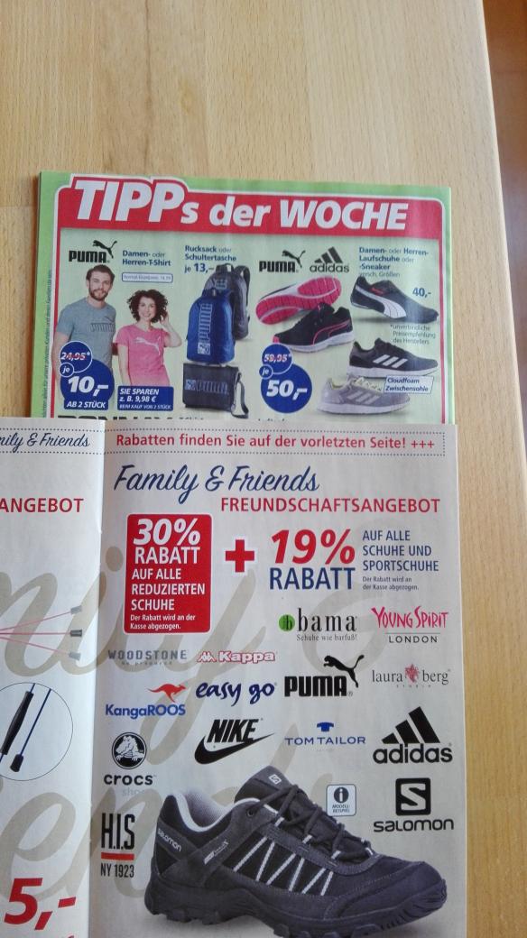 [real Personalkauf 1./2.9.] 30% auf alle reduzierten Schuhe + 19% extra auf alle Schuhe und Sportschuhe, z.B. Adidas Cosmic 2.0 für 28,35€