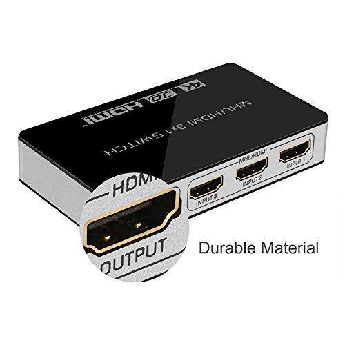 HDMI Switch, Jelly Comb HDMI MHL Umschalter mit IR-Fernbedienung um 16,99€ statt 23,99€