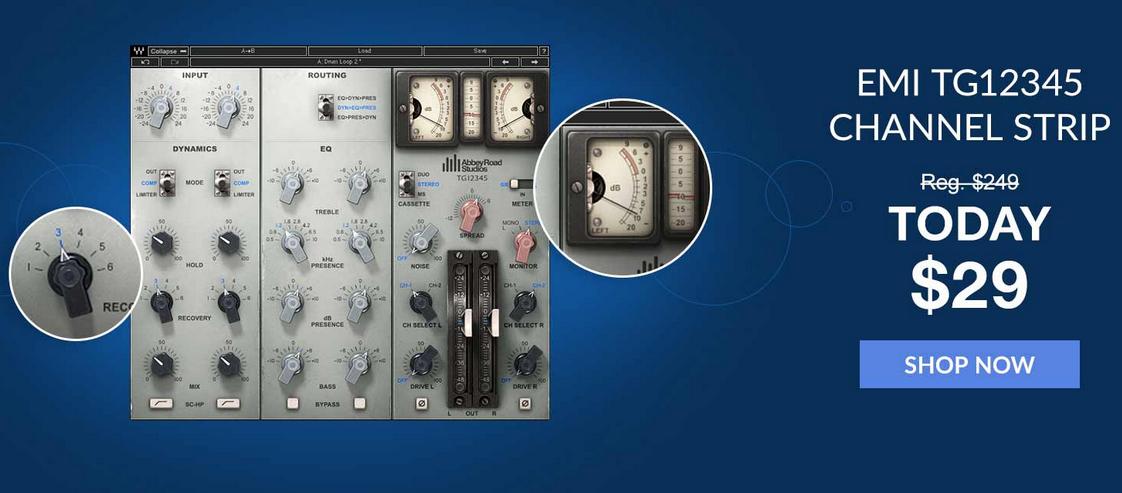 VST Plugin - Waves EMI TG12345 Channel Strip - 29 Dollar (Today only)