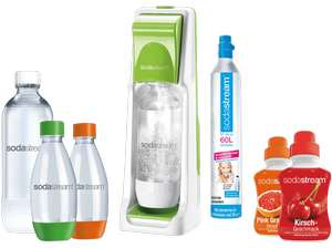 SodaStream Cool Super-Spar-Pack (2x PET-Flasche 1l, 2x PET-Flasche 0,5l, 1x CO2, 2x Sirup) für 42€ [Saturn + Amazon]