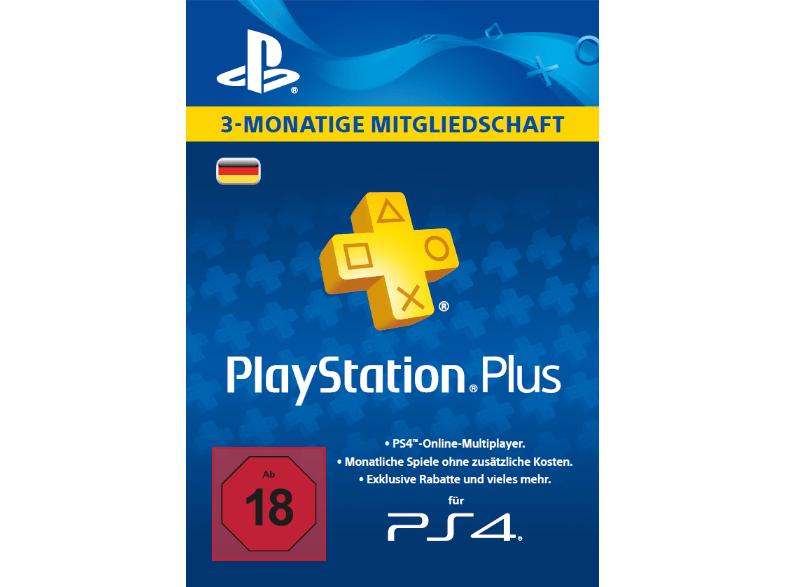 Playstation Plus für 3 Monate für 11,34 Euro