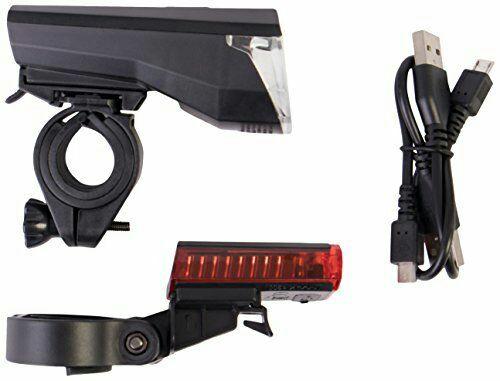 Gregster LED Fahrradbeleuchtung, Fahrradlampen Set mit Frontlicht, Rücklicht, USB Ladekabel und Halterung, amazon prime/ Buchtrick